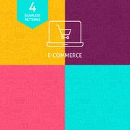 Flat line icons set of business e-commerce startup finance