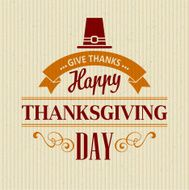 Typographic Thanksgiving Design Vector illustration N5