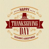 Typographic Thanksgiving Design Vector illustration N6