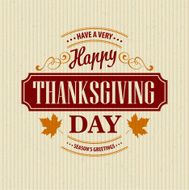 Typographic Thanksgiving Design Vector illustration N7