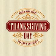 Typographic Thanksgiving Design Vector illustration N8