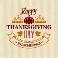 Typographic Thanksgiving Design Vector illustration N9