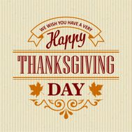 Typographic Thanksgiving Design Vector illustration N10