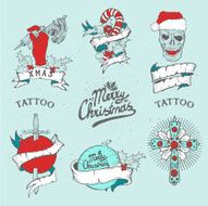 christmas tattoo set N3
