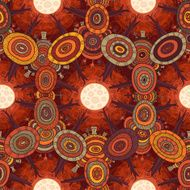 Vector fractal ethnic forest seamless pattern for halloween N2