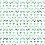 Blue and Green Sea Waves Pattern on White Background