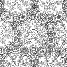 Vector fractal ethnic forest seamless pattern for halloween N4