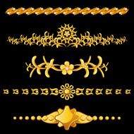Set of gold dividers