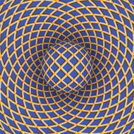 Optical illusion of a moving space