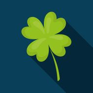 Clover lucky irish leaf design