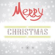 Merry Christmas Holiday card design N4