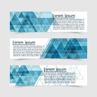 Set of vector banners with triangles icons different elements N2