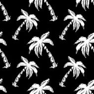 Seamless pattern palm trees N4