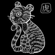Chinese Zodiac Animal astrological sign Tiger N4
