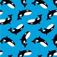 Killer Whale Orca Vector Pattern