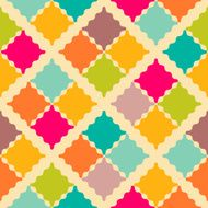 Retro colorful seamless pattern illustration