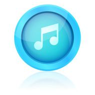 Blue vector music button