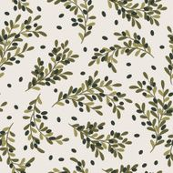 Olive branches seamless pattern