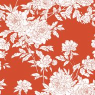 Seamless pattern with flowers peonies N6