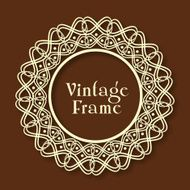 Floral design decorated beautiful Vintage frame N2