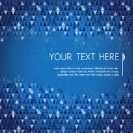 Abstract dark background with colorful blue triangle and copy space