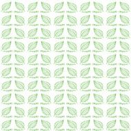 Vector seamless pattern organic green foliage Spring