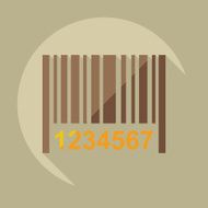 Flat modern design with shadow icons barcode