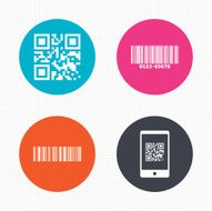 Bar and Qr code icons Scan barcode symbol N2