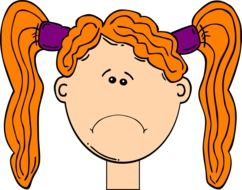 clipart of head of red girl