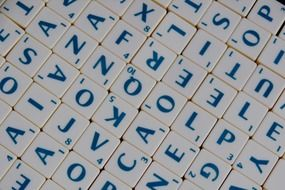 folded words of scrabble game