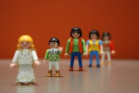 colored figures from the designer Playmobil