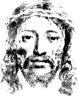 conceptual image of the face of jesus