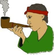 pipe smoking man drawing