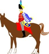 Man is riding on the horse clipart