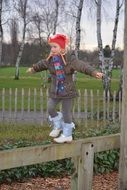 child girl people in winter clothing