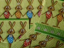 Easter napkins with rabbits