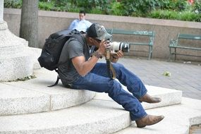 shooting photographer tourist