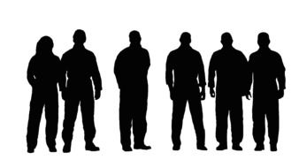 group of people, silhouettes