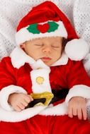 baby in Christmas costume