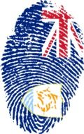 a fingerprint image with Anguilla flag