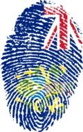 Fingerprint with the image of the flag of the Pitcairn island
