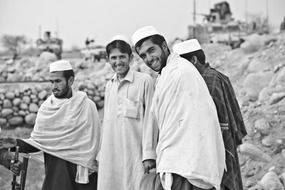 smiling afghan men
