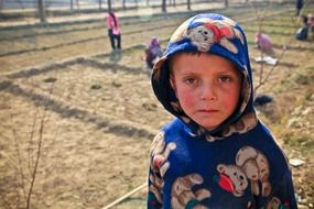 boy in a farm in Afghanistan