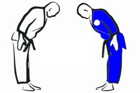 greeting in karate as a graphic image