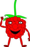raspberry man cartoon