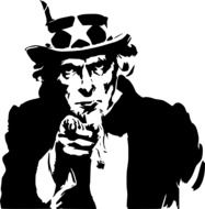 uncle sam symbol of america drawing
