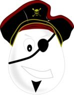 One eyed pirate clipart