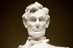 head of abraham lincoln sculpture, usa, washington dc