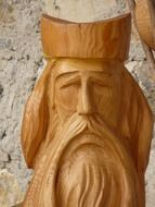 wooden statue of the priest