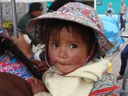 peru girl's cute face